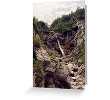Karwendel Waterfall Greeting Card