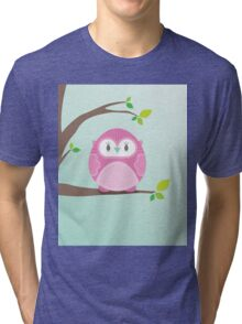 Sweet owl in a tree 4 Tri-blend T-Shirt