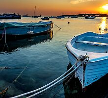Reflections in Porto Cesareo by Renzo Re