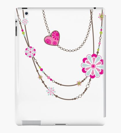 NECKLACE :: funky flowers chain bright colourful iPad Case/Skin