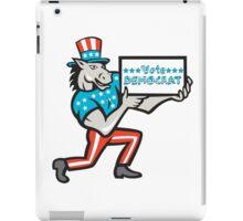 Vote Democrat Donkey Mascot Cartoon iPad Case/Skin