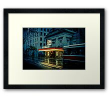 kinky city lights Framed Print