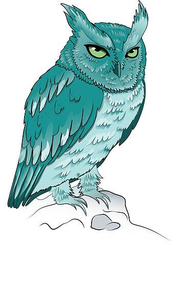Teal Owl by BlackMizu