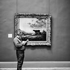 Man Drawing The Metropolitan Museum of Art NYC USA by GJKImages