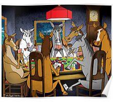 Horses Playnig Poker Poster