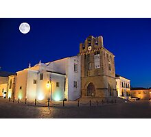 Faro Cathedral At Night Photographic Print