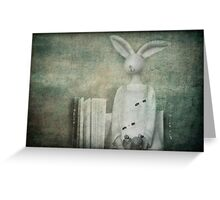 The Rabbit and the Notebook Greeting Card