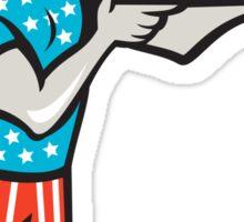 Vote Democrat Donkey Mascot Standing Cartoon Sticker