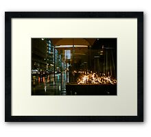 setting fire to the rain Framed Print