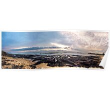 Beach Sunrise Panorama Poster