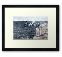 Memories Are Fading Into Dreams Framed Print
