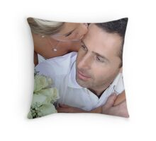 Groom and Bride Throw Pillow