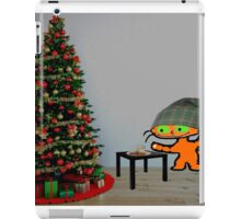 Cat Sets Out Milk And Cookies For Santa iPad Case/Skin
