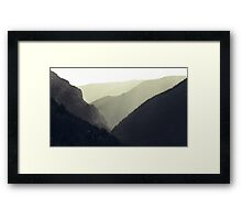 Interleaving Giants Framed Print