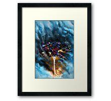 Destroy from Above Framed Print