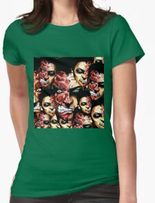 2 faces Womens Fitted T-Shirt
