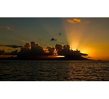 Sunset over Moorea Photographic Print