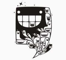 Happy Inside - 1-Bit Oddity - Black Version by knitetgantt