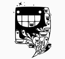 Happy Inside - 1-Bit Oddity - Black Version Men's Baseball ¾ T-Shirt