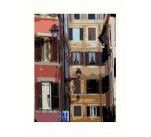 Rome - streetscape Art Print