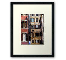 Rome - streetscape Framed Print