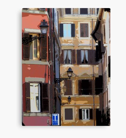 Rome - streetscape Canvas Print