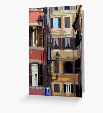 Rome - streetscape Greeting Card