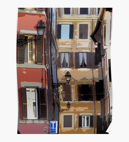 Rome - streetscape Poster