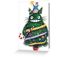 Totoro Christmas Tree Greeting Card