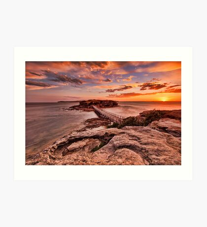 Bare Island Sunset Art Print