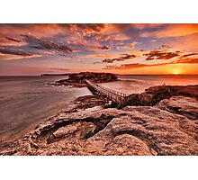 Bare Island Sunset Photographic Print