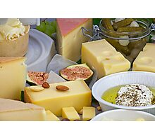 cheese plate Photographic Print