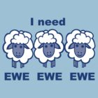 Blues Sheep by Anne van Alkemade