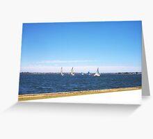 Yachts 22 12 12 Five Greeting Card