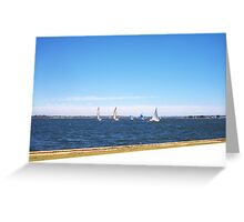 Yachts 22 12 12 Five Greeting Card
