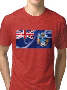 Tristan da Cunha Flag Tri-blend T-Shirt