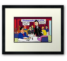 Waiter! There Is A Loupe In My Soup Framed Print