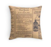 Old Newspaper Page Look Throw Pillow