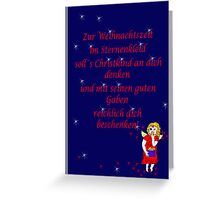 Weihnachtsengerl Greeting Card
