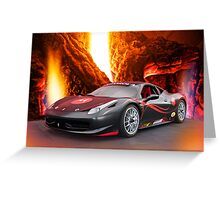 Redemption - F458 Ferrari Greeting Card