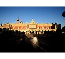 Krakow market square by night Photographic Print
