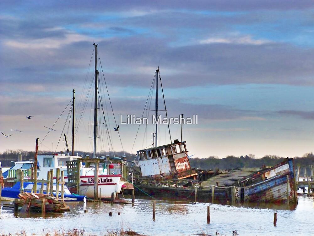 High Tide at Skippool.  by Lilian Marshall