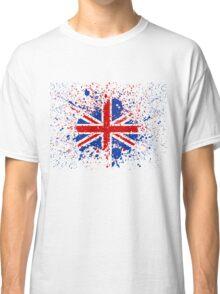 UK Union Jack Splash Colors Flag Classic T-Shirt