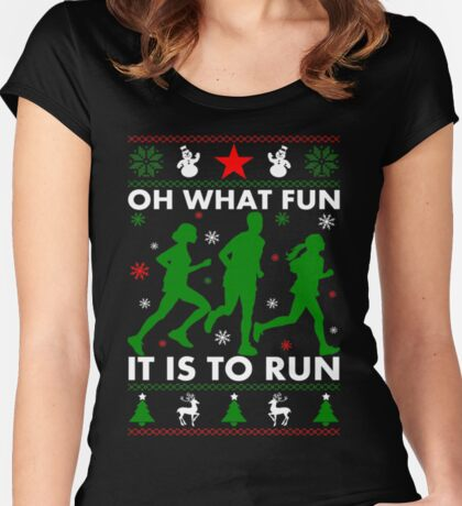 Oh What Fun It Is To Run Women's Fitted Scoop T-Shirt