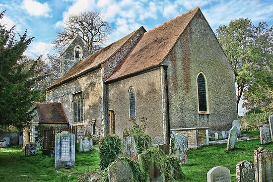 Old Church Of St Mary The Blessed Virgin Walmer by Dave Godden