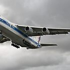 Antonov on dark cloudy sky by Jose Saraiva