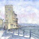 Castello sul mare a colori by Luca Massone  disegni