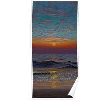 Indian ocean. Sunset Poster