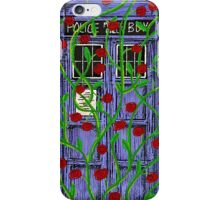 Tardis with Roses iPhone Case/Skin