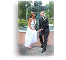 Groom and Bride Canvas Print